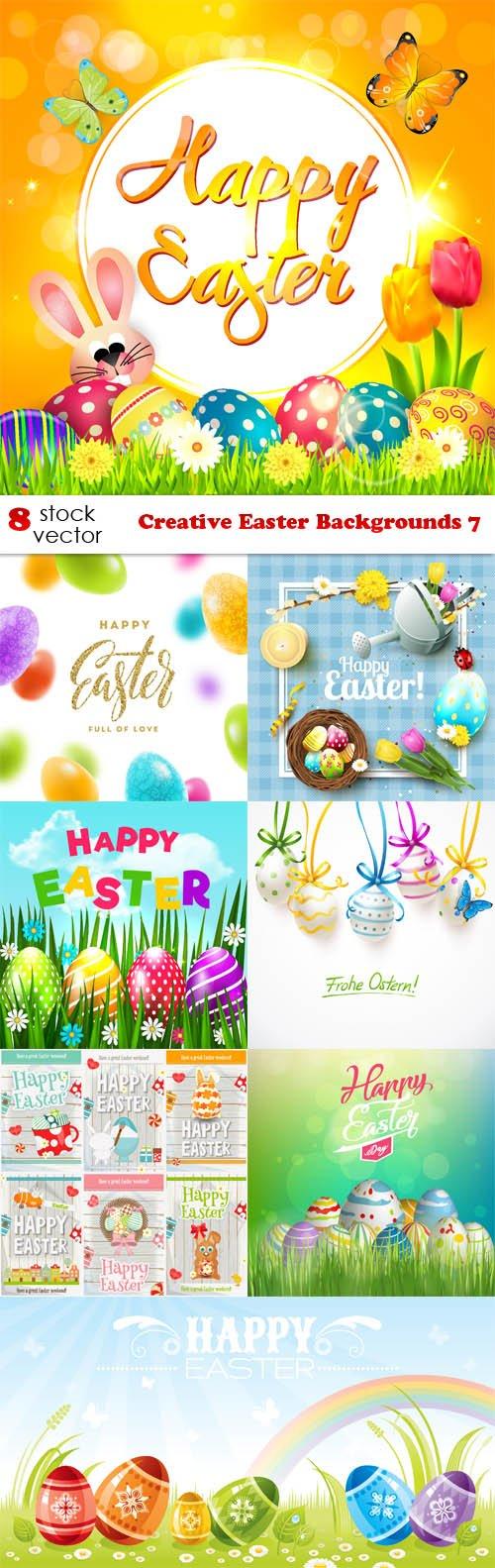Vectors - Creative Easter Backgrounds 7