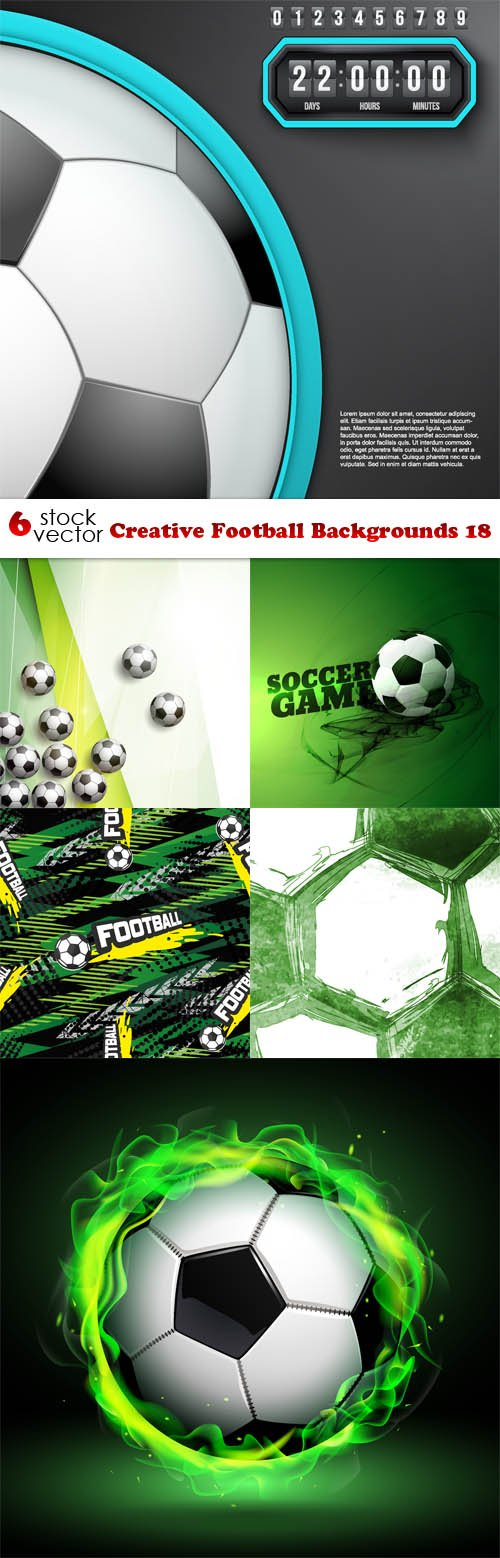 Vectors - Creative Football Backgrounds 18