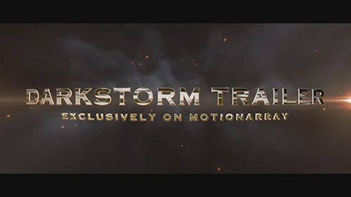 Darkstorm Trailer - After Effects Templates