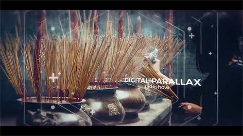 Digital Cinematic Parallax Slideshow - After Effects Templates