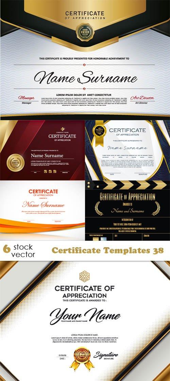 Vectors - Certificate Templates 38