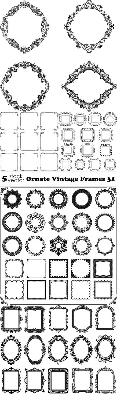 Vectors - Ornate Vintage Frames 31