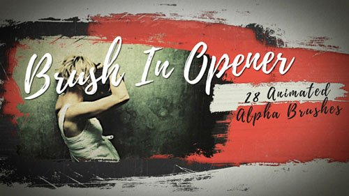 Brush In Opener - Project for After Effects (Videohive)