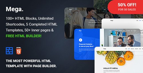 ThemeForest - Mega v1.0 - Multipurpose Responsive Template with Page Builder - 19550372