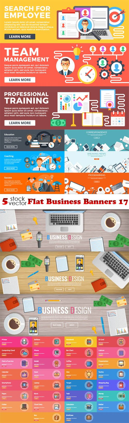 Vectors - Flat Business Banners 17