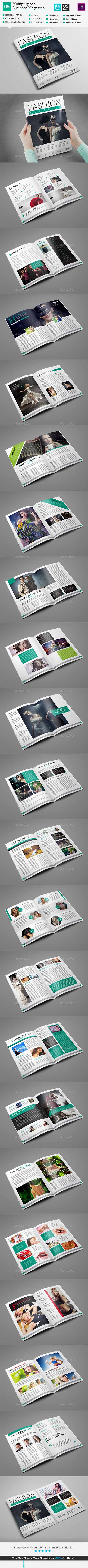 Fashion Magazine Template - InDesign 42 Page V5 10954902