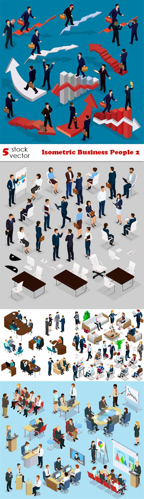 Vectors - Isometric Business People 2