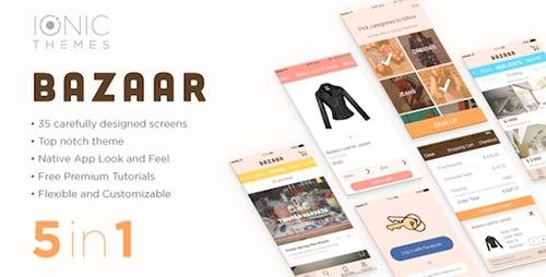 CodeCanyon - BAZAAR v1.0.2 - Ionic Multi App Template (with optional WooCommerce integration) - 15943660