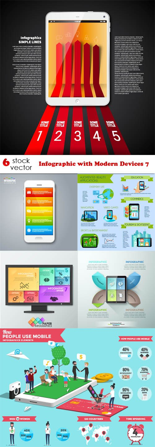 Vectors - Infographic with Modern Devices 7