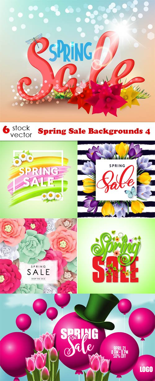 Vectors - Spring Sale Backgrounds 4