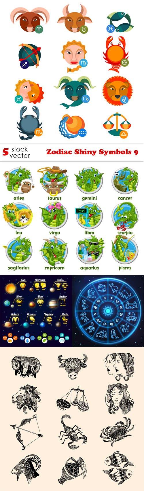 Vectors - Zodiac Shiny Symbols 9