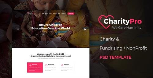 ThemeForest - CharityPro v1.0 - Charity & Fundraising PSD Template - 19597521