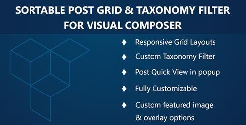 CodeCanyon - Visual Composer - Sortable Grid & Taxonomy filter v2.2.0 - 7338639