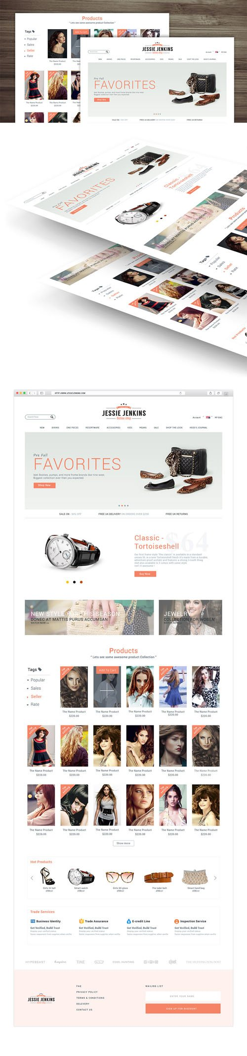 Modern Premium eCommerce Website PSD Template