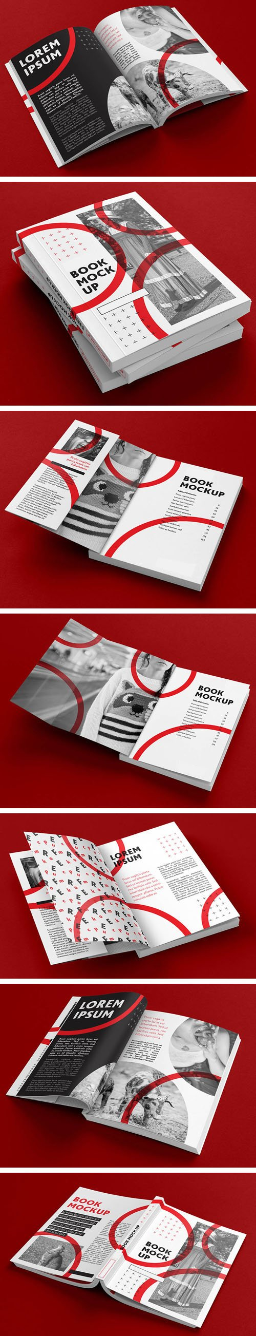 Book PSD Mockups Templates