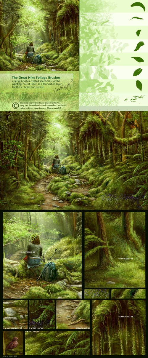 Great Hike Foliage Photoshop Brushes
