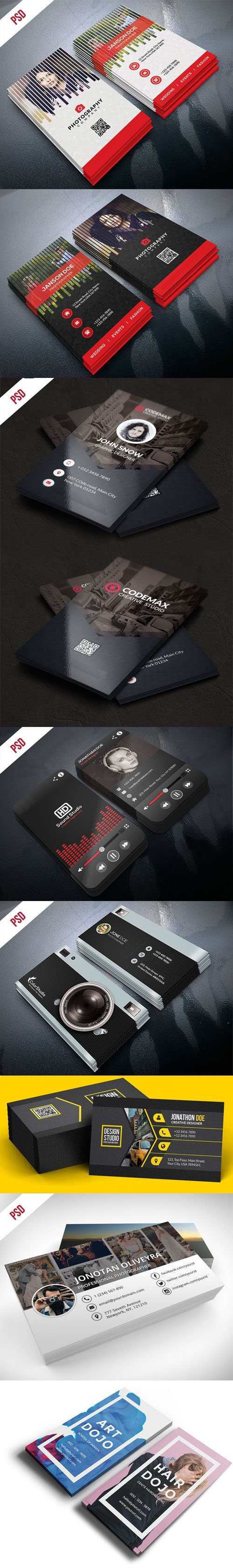 Professional Business Cards PSD Templates Bundle