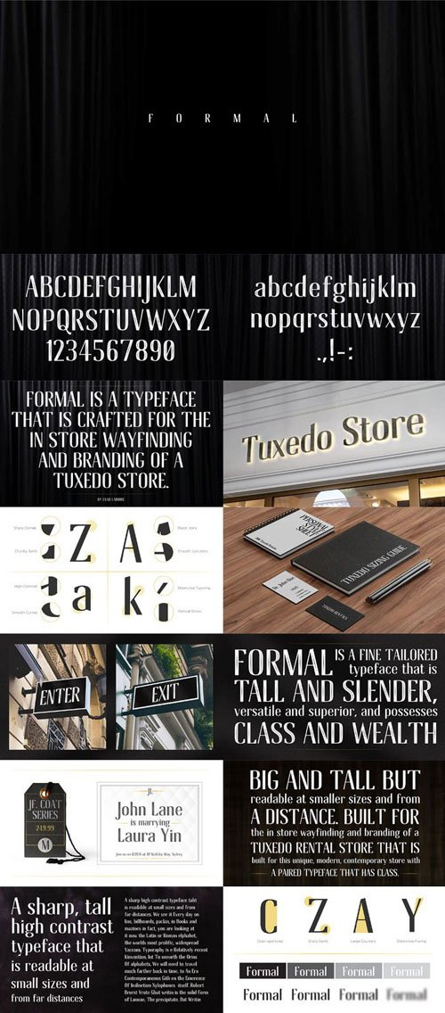 Formal Inline Typeface