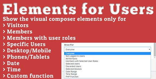 CodeCanyon - Elements for Users v1.3.2 - Addon for Visual Composer - 13758689