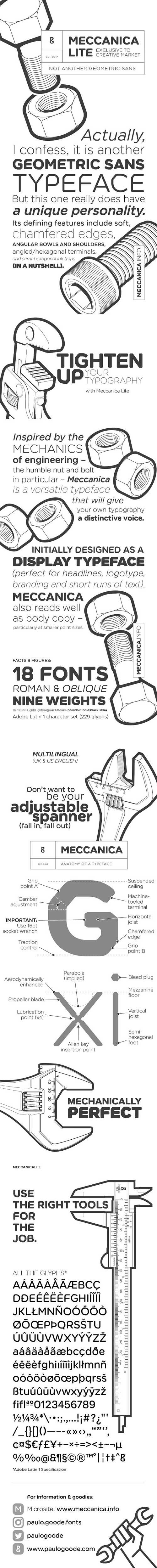 Meccanica Lite - 18 Font Family 1363085