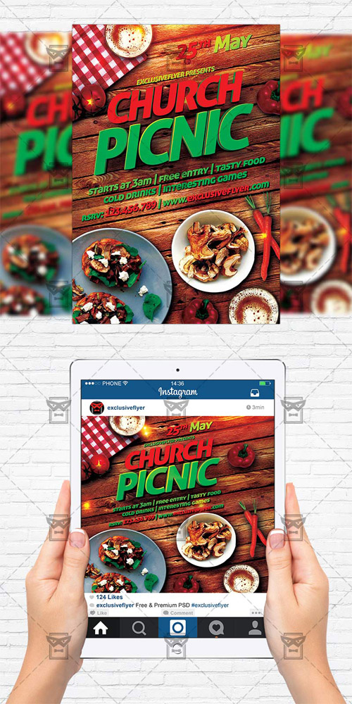 Flyer Template Instagram Size Flyer Church Picnic 2 Free