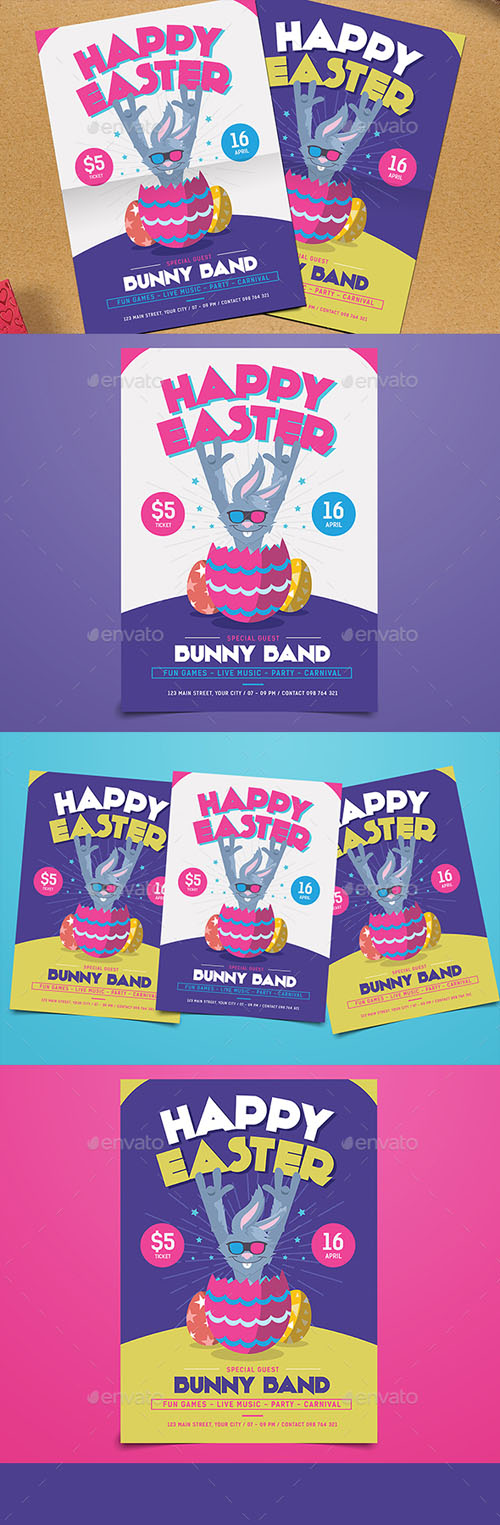 Easter Egg Party Flyer 19626620