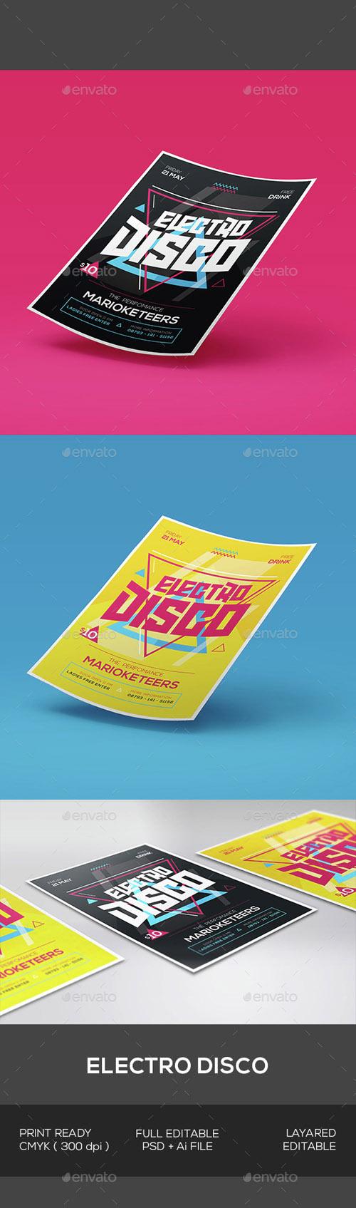 Electro Disco Flyer 15306095