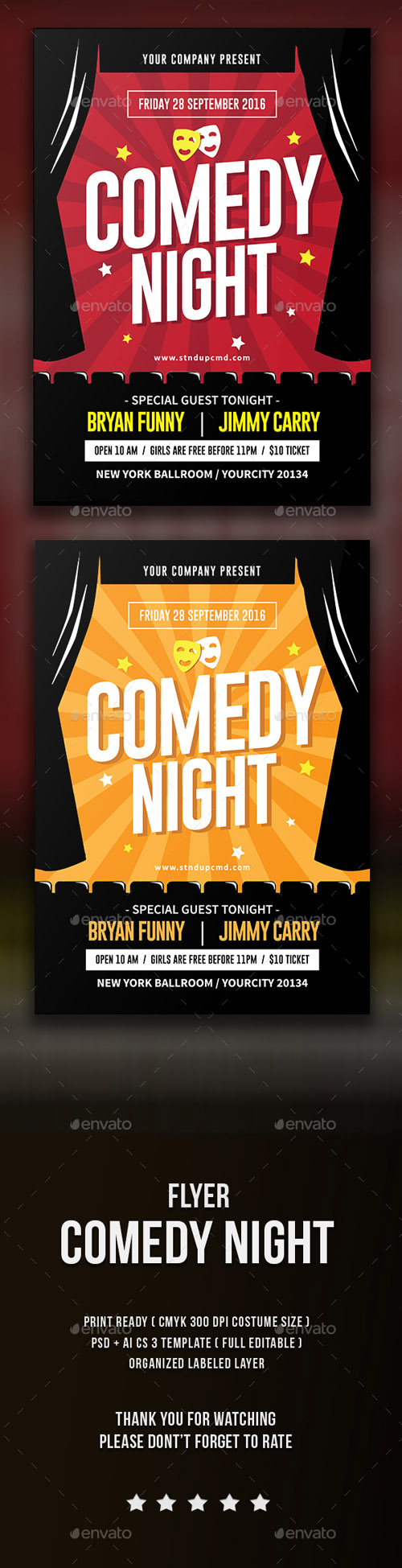Comedy Night Flyer 15753696