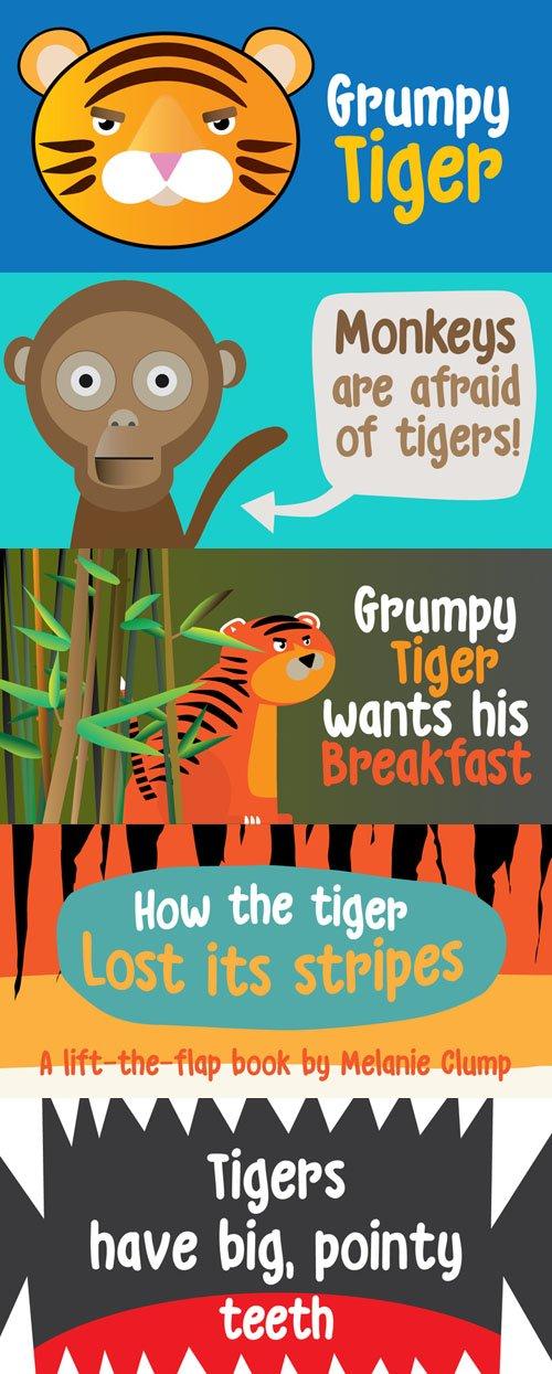 Grumpy Tiger font family
