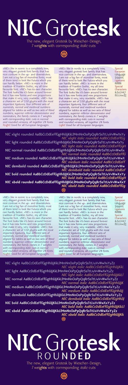 NIC font family