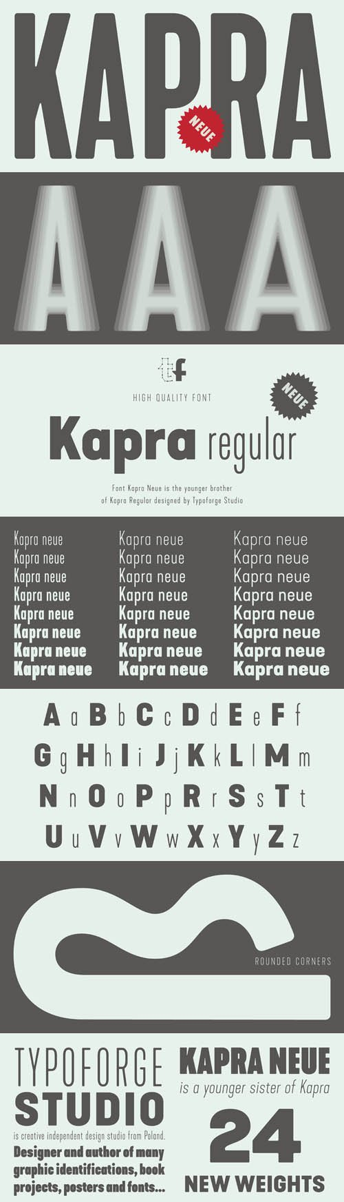 Kapra Neue font family