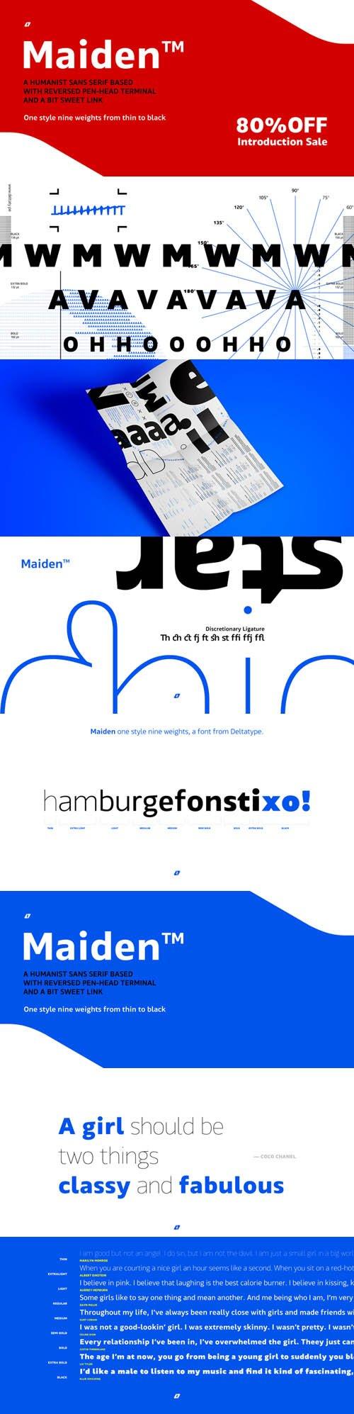Maiden Sans font family