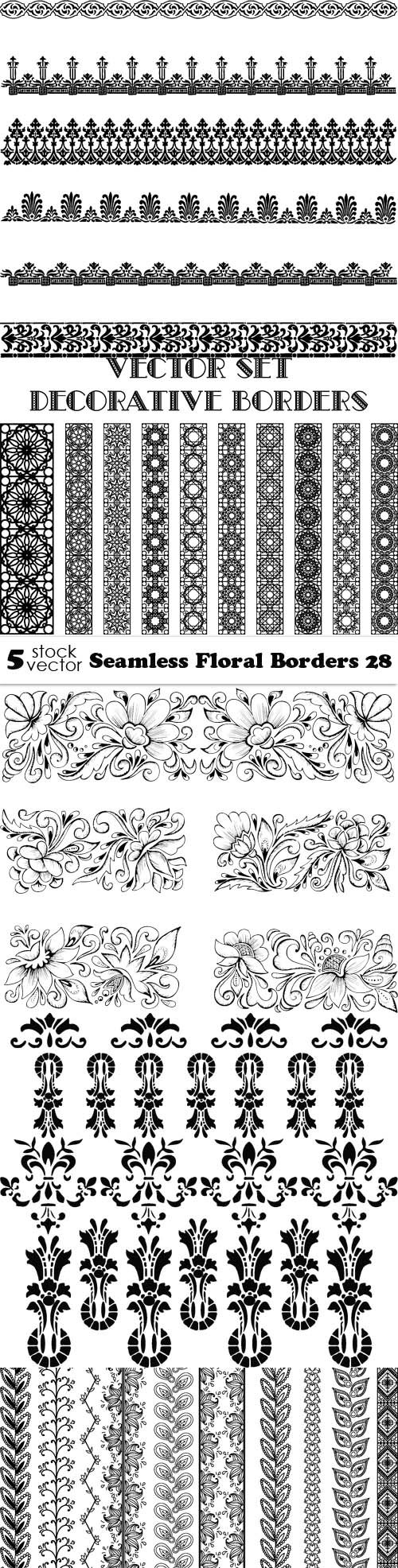 Vectors - Seamless Floral Borders 28