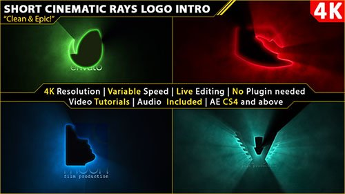 Short Cinematic Light Rays Logo Intro - Project for After Effects (Videohive)