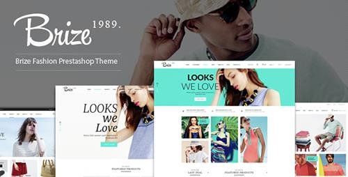 ThemeForest - Brize v1.0 - Responsive Prestashop Fashion Theme - 14629963