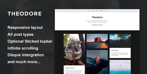 ThemeForest - Theodore v1.0 - A Responsive Gallery Theme - 19158875