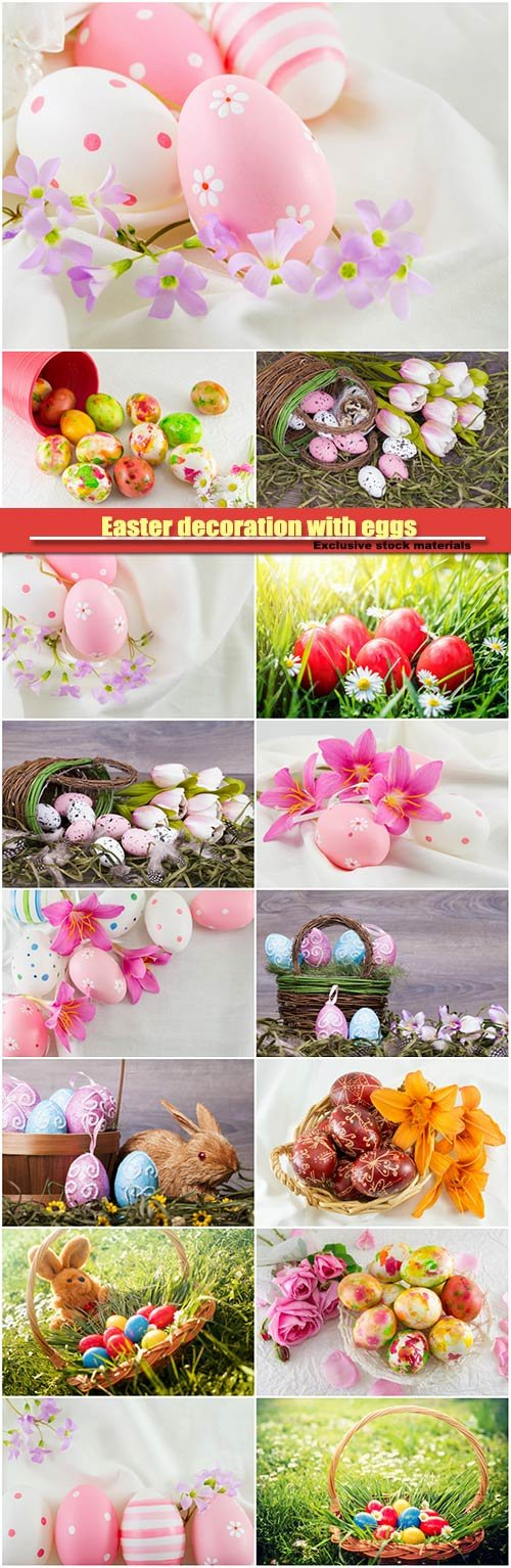 Easter decoration with eggs