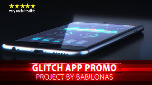 Glitch App Promo 19532249 - Project for After Effects (Videohive)