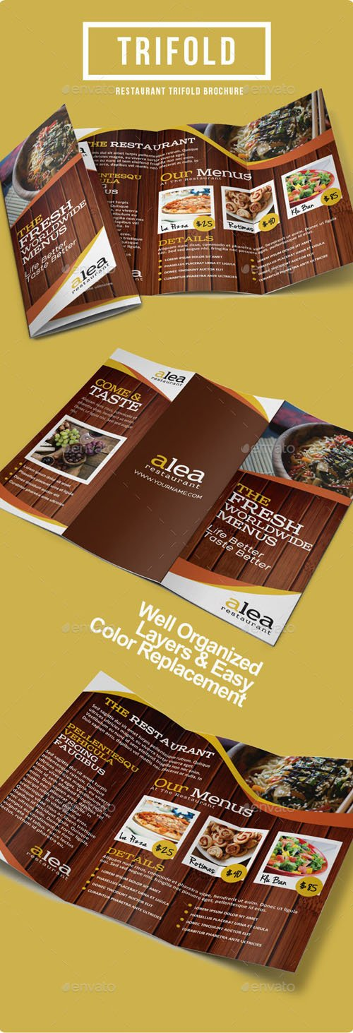 Alea Restaurant Trifold Brochure 9128819