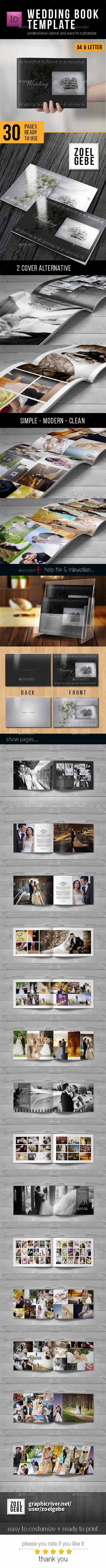 30 Page Wedding Book Template 12853361