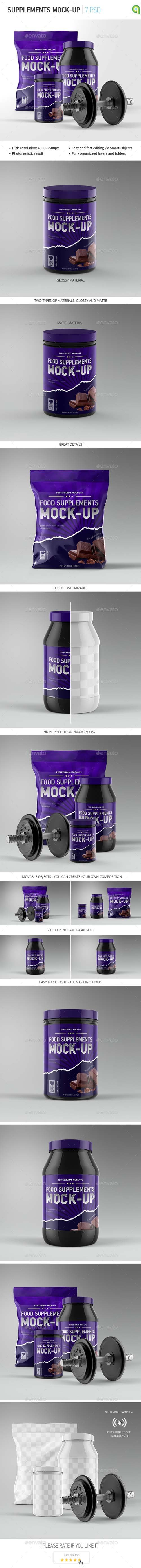 Sport Supplement Package Mock-up 13082125