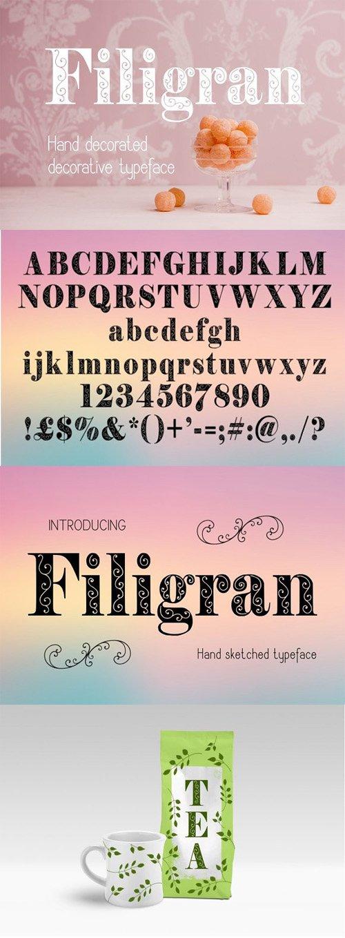 Filigran Decorative Font