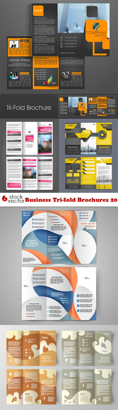Vectors - Business Tri-fold Brochures 20