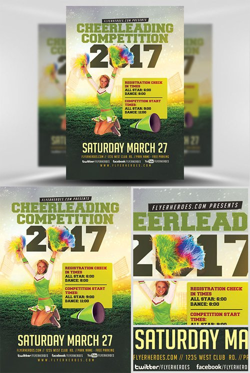 Flyer Template - Cheerleading Competition 2017