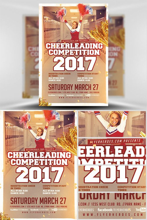 Flyer Template - Cheerleading Competition 2017 v2
