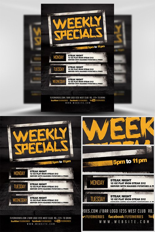 Flyer Template - Weekly Specials