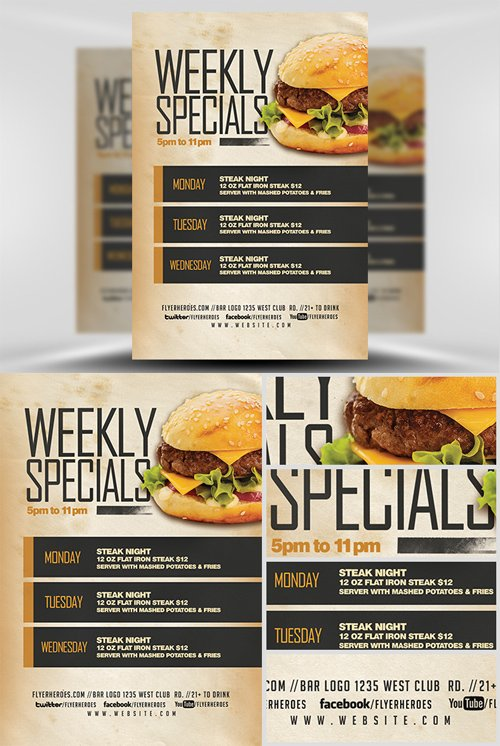 Flyer Template - Weekly Specials v2
