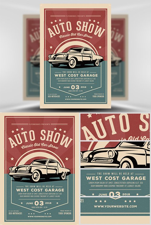 Flyer Template - Old Classic Car Show