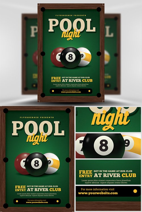 Flyer Template - Pool Night