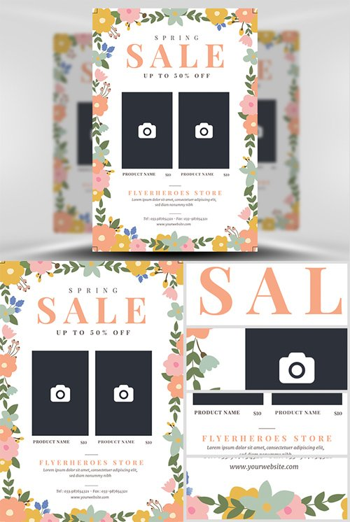Flyer Template - Spring Fashion Sale